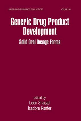 Generic Drug Product Development: Solid Oral Dosage Forms, 1st Edition (e-Book) book cover