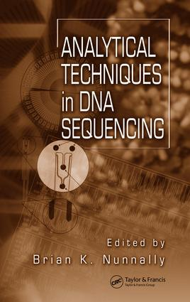Analytical Techniques In DNA Sequencing: 1st Edition (e-Book) book cover