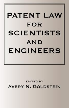 Patent Laws for Scientists and Engineers: 1st Edition (e-Book) book cover