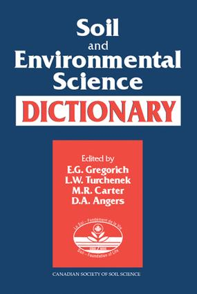 Soil and Environmental Science Dictionary: 1st Edition (e-Book) book cover