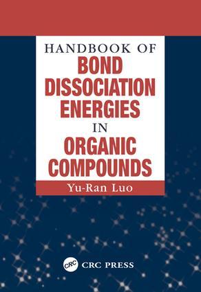 Handbook of Bond Dissociation Energies in Organic Compounds