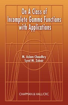 On a Class of Incomplete Gamma Functions with Applications: 1st Edition (e-Book) book cover