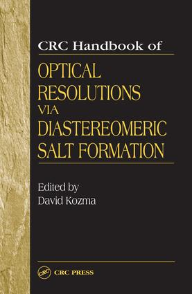 CRC Handbook of Optical Resolutions via Diastereomeric Salt Formation: 1st Edition (e-Book) book cover