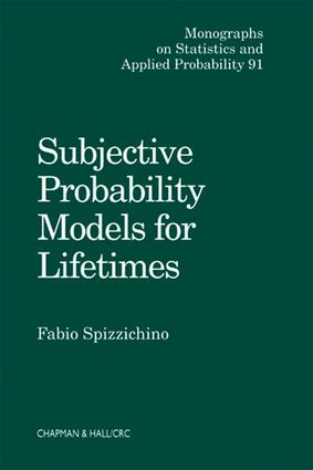 Subjective Probability Models for Lifetimes: 1st Edition (e-Book) book cover