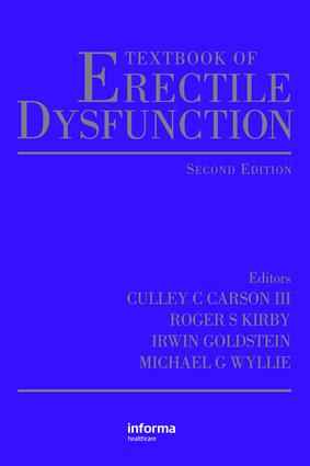 Textbook of Erectile Dysfunction: 2nd Edition (Hardback) book cover
