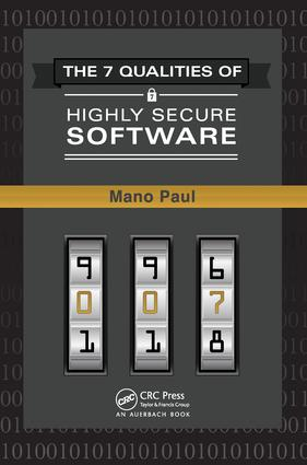 The 7 Qualities of Highly Secure Software: 1st Edition (e-Book) book cover