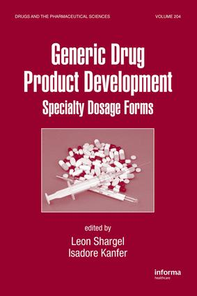 Generic Drug Product Development: Specialty Dosage Forms, 1st Edition (e-Book) book cover