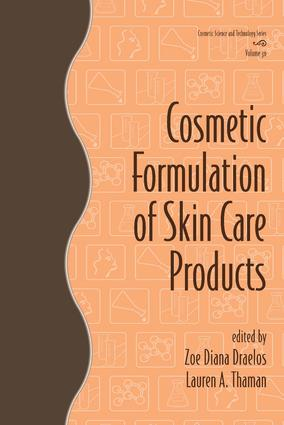 Cosmetic Formulation of Skin Care Products: 1st Edition (Hardback) book cover