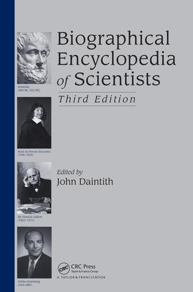 Biographical Encyclopedia of Scientists: 3rd Edition (e-Book) book cover
