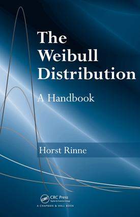 The Weibull Distribution: A Handbook, 1st Edition (e-Book) book cover