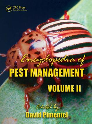 Encyclopedia of Pest Management, Volume II: 1st Edition (e-Book) book cover