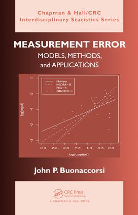 Measurement Error: Models, Methods, and Applications, 1st Edition (e-Book) book cover