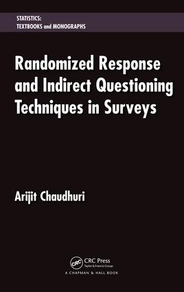 Randomized Response and Indirect Questioning Techniques in Surveys: 1st Edition (e-Book) book cover