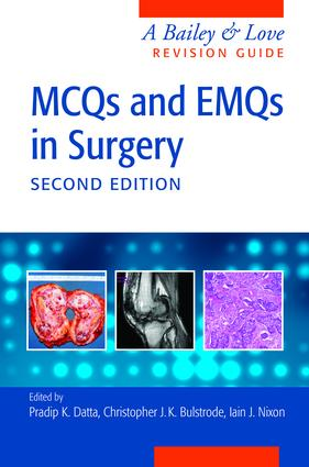 MCQs and EMQs in Surgery: A Bailey & Love Revision Guide, Second Edition, 2nd Edition (e-Book) book cover