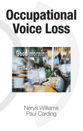 Occupational Voice Loss: 1st Edition (Hardback) book cover