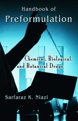 Handbook of Preformulation: Chemical, Biological, and Botanical Drugs, 1st Edition (e-Book) book cover