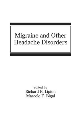Migraine and Other Headache Disorders: 1st Edition (Hardback) book cover