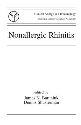 Nonallergic Rhinitis: 1st Edition (e-Book) book cover