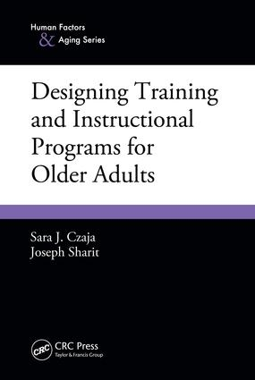 Designing Training and Instructional Programs for Older Adults: 1st Edition (e-Book) book cover