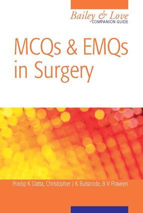 MCQs and EMQs in Surgery: A Bailey & Love Companion Guide: 1st Edition (e-Book) book cover