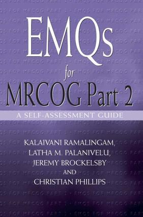 EMQs for MRCOG Part 2: A Self-Assesment Guide, 1st Edition (e-Book) book cover