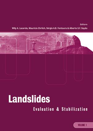Landslides: Evaluation and Stabilization/Glissement de Terrain: Evaluation et Stabilisation, Set of 2 Volumes: Proceedings of the Ninth International Symposium on Landslides, June 28 -July 2, 2004 Rio de Janeiro, Brazil, 1st Edition (e-Book) book cover