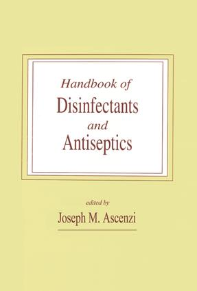 Handbook of Disinfectants and Antiseptics: 1st Edition (e-Book) book cover