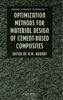 Optimization Methods for Material Design of Cement-based Composites
