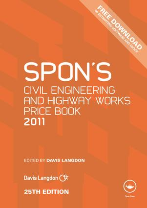 Spon's Civil Engineering and Highway Works Price Book 2011: 1st Edition (e-Book) book cover