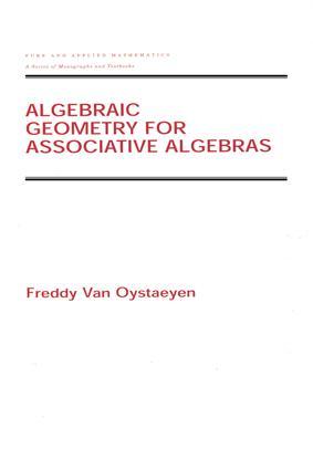 Algebraic Geometry for Associative Algebras: 1st Edition (e-Book) book cover