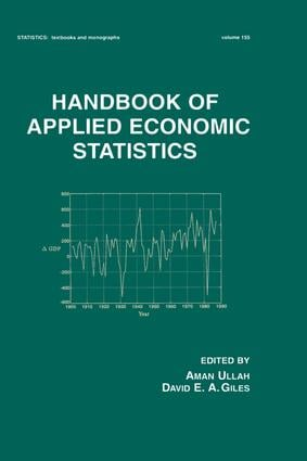 Handbook of Applied Economic Statistics book cover