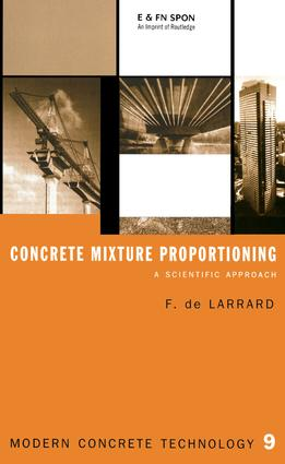 Concrete Mixture Proportioning: A Scientific Approach, 1st Edition (e-Book) book cover