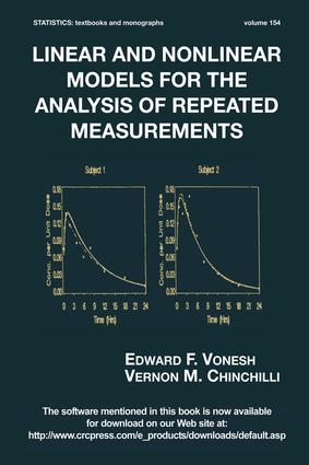 Linear and Nonlinear Models for the Analysis of Repeated Measurements book cover