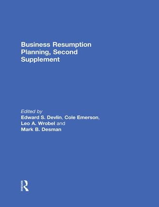 Business Resumption Planning, Second Supplement: 1st Edition (e-Book) book cover