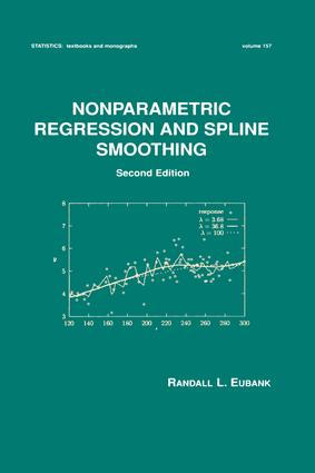 Nonparametric Regression and Spline Smoothing: 2nd Edition (Hardback) book cover