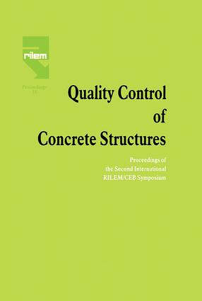 Quality Control of Concrete Structures: Proceedings of the Second International RILEM/CEB Symposium, 1st Edition (e-Book) book cover