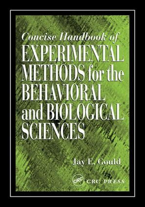 Concise Handbook of Experimental Methods for the Behavioral and Biological Sciences: 1st Edition (e-Book) book cover