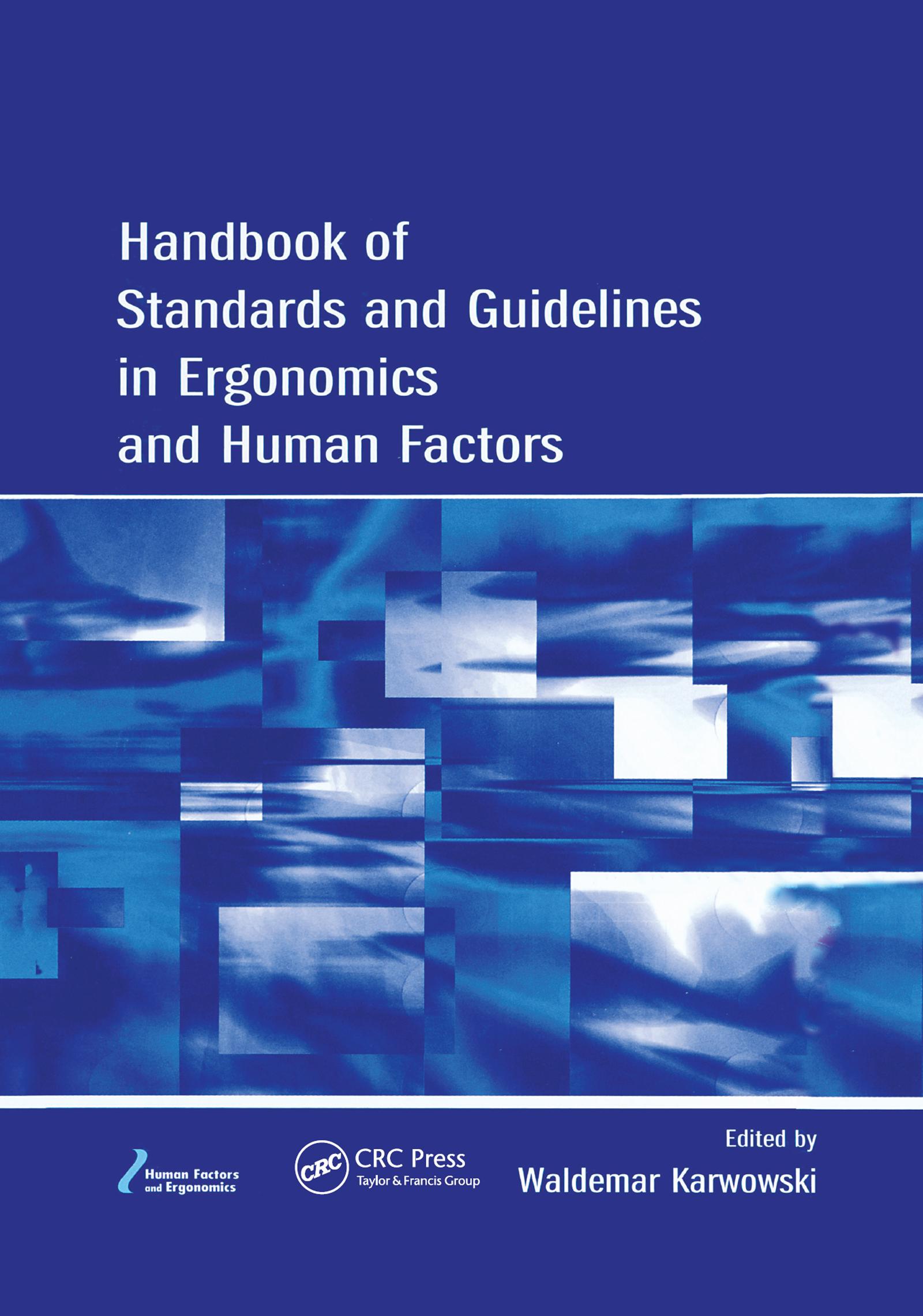 Ergonomics of Manual Handling—Part 1: Lifting and Carrying
