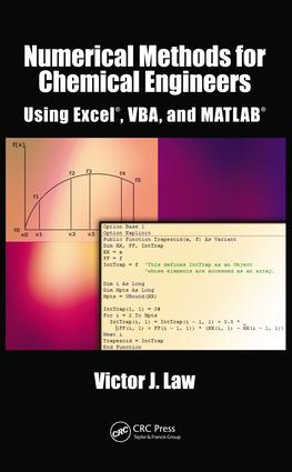 Numerical Methods for Chemical Engineers Using Excel, VBA, and MATLAB: 1st Edition (e-Book) book cover