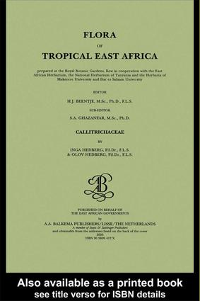 Flora of tropical East Africa - Callitrichaceae (2003): 1st Edition (Hardback) book cover