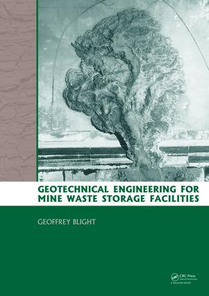 Geotechnical Engineering for Mine Waste Storage Facilities: 1st Edition (e-Book) book cover