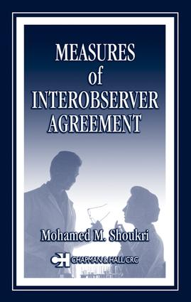 Measures of Interobserver Agreement and Reliability: 1st Edition (e-Book) book cover