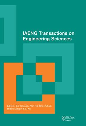 IAENG Transactions on Engineering Sciences: Special Issue of the International MultiConference of Engineers and Computer Scientists 2013 and World Congress on Engineering 2013, 1st Edition (e-Book) book cover