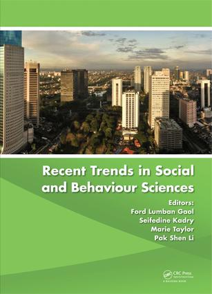 Recent Trends in Social and Behaviour Sciences: Proceedings of the International Congress on Interdisciplinary Behaviour and Social Sciences 2013 book cover