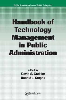 Handbook of Technology Management in Public Administration: 1st Edition (e-Book) book cover