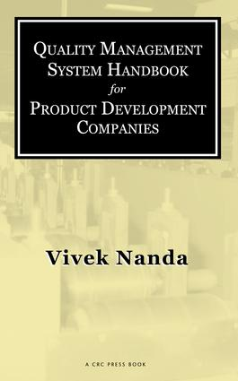 Quality Management System Handbook for Product Development Companies: 1st Edition (e-Book) book cover