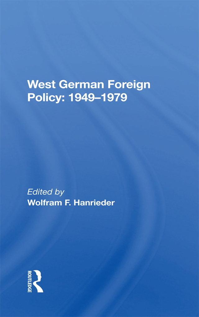 West German Foreign Policy, 1949-1979 book cover