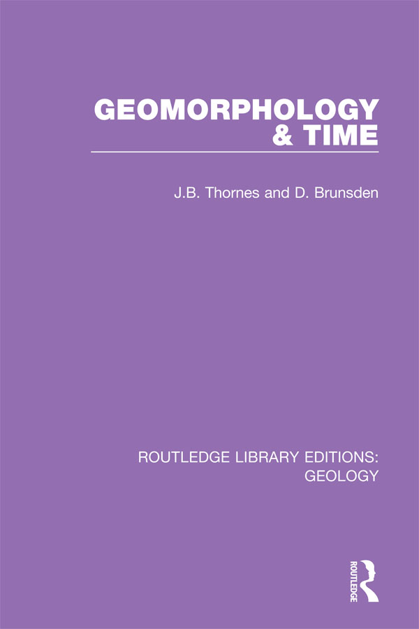 Geomorphology and Time