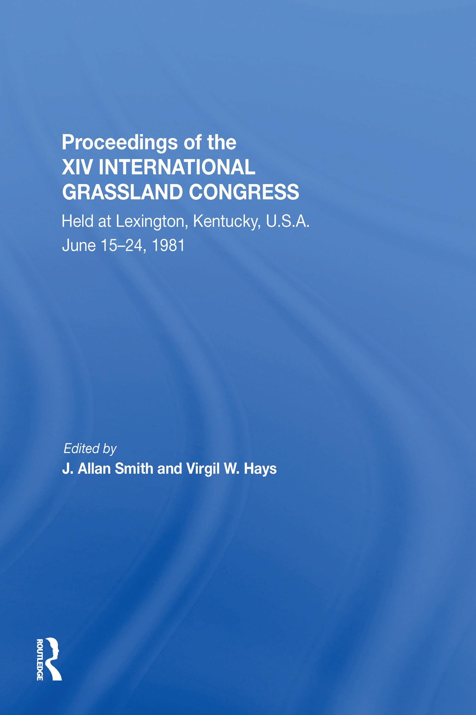 Proceedings Of The Xiv International Grassland Congress