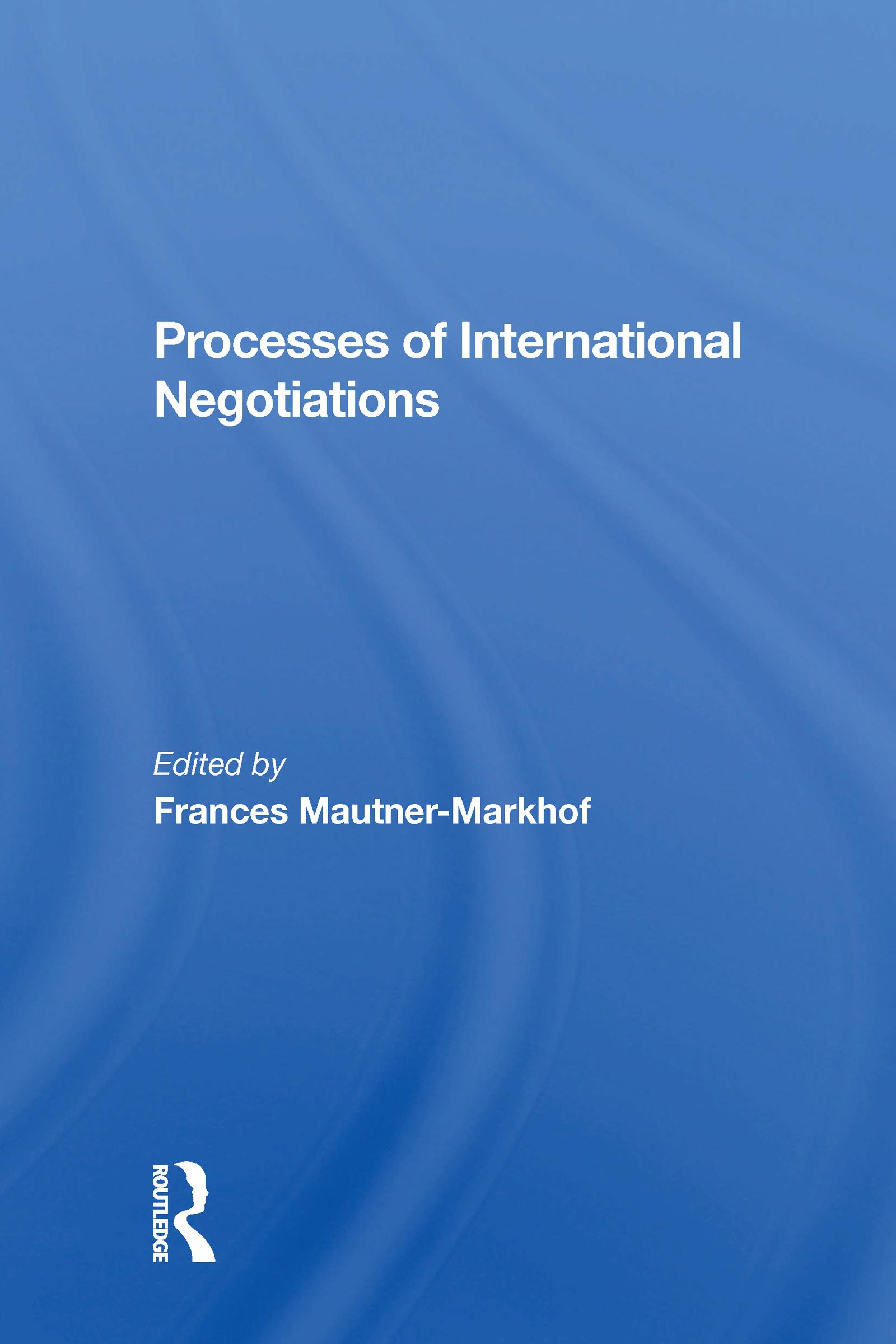 Processes Of International Negotiations